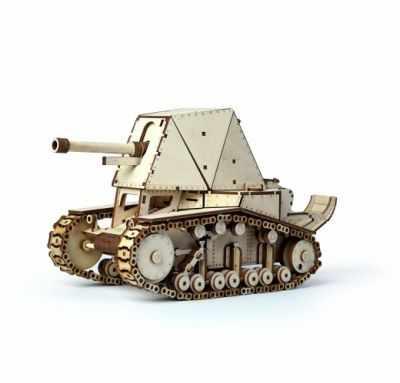 00-24 Конструктор 3D подвижный Танк