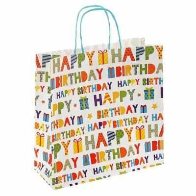 Подарочный конверт - 2073807 Пакет крафт С Днем Рождения пакет подарочный крафт 26 32 13 см бумага