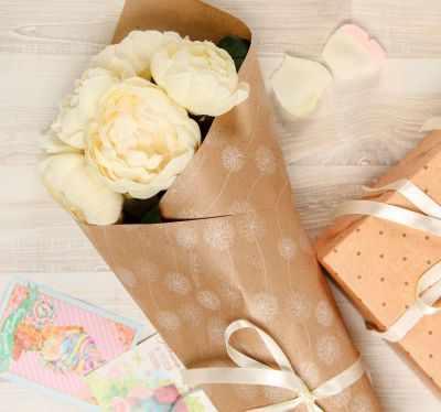 Бумага для упаковки подарков - 2312000 Бумага упаковочная крафт