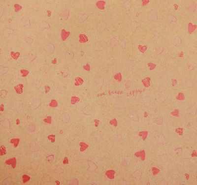 2312010 Бумага упаковочная крафт Воздушные сердечки