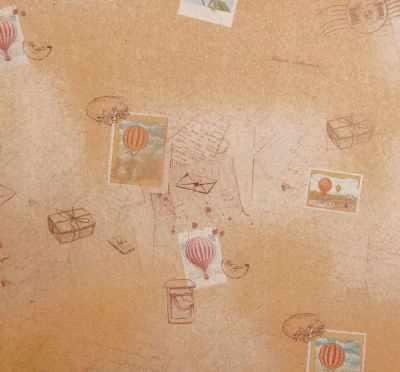 2312012 Бумага упаковочная крафт Письмо счастья