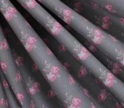 AM606001 Ткань Снежные розы и горох№1