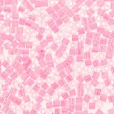 №0909 розовый/перл 11/0 HEXAGON №3 2.2 мм