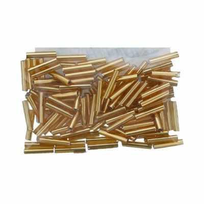 Бисер TOHO №0022C т.золотистый BUGLE №3 9 мм