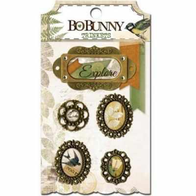 14606854 Набор украшений BoBunny подвески металлические «Trail MixTrinkets» - Декоративные элементы и украшения