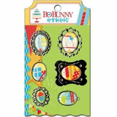 Декоративные элементы и украшения для скрапбукинга - 14206714 Набор украшений BoBunny подвески металлические «Surprise! Trinkets»