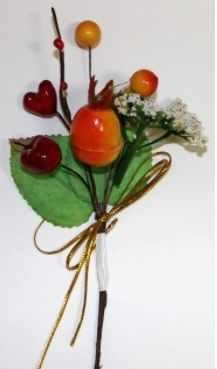 DKB045 Декоративный букетик Рукоделие Фруктово-ягодный