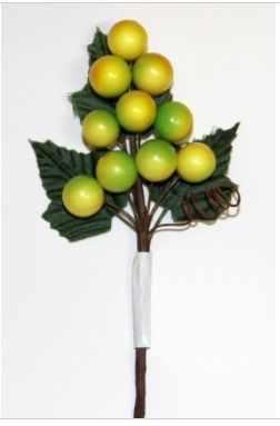 DKB039 Декоративный букетик Рукоделие Веточка желтых ягод