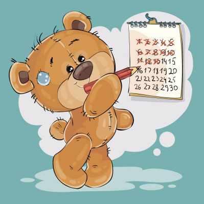 П20 Медвежонок с календарем