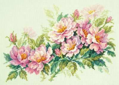 40-74 Розовый шиповник - Наборы для вышивания «Чудесная игла»