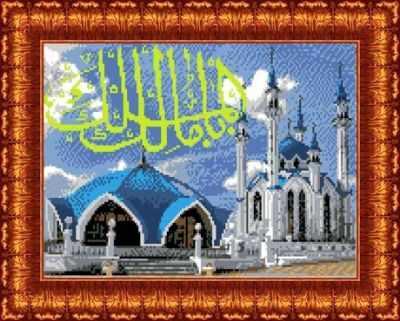 Основа для вышивания с нанесённым рисунком Каролинка КК 013 Мечеть Кул Шариф - схема для вышивания (Каролинка)