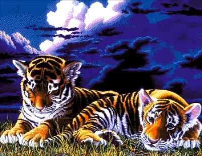 44-3200-НТ  Тигрята   набор для вышивания (А. Токарева) - Наборы для вышивания Александры Токаревой
