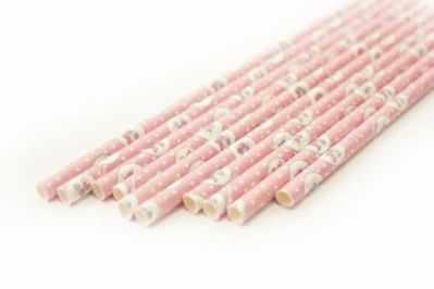 DA040223 Бумажные трубочки, розовый ветер