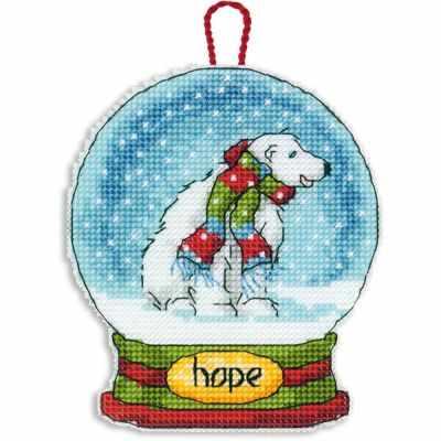 8906 DMS Hope Snow Globe Ornament