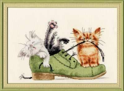 Набор для вышивания Золотое Руно ВК-033 Котята в ботинке