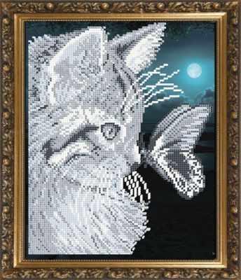 Основа для вышивания с нанесённым рисунком Art Solo VKA4057 Котенок и бабочка - схема (Art Solo)