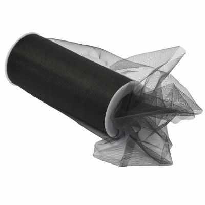 TBY.C Фатин средней жесткости в шпульках шир.150мм (23 черный)