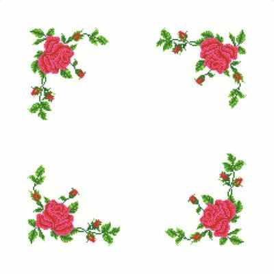 Основа для вышивания с нанесённым рисунком Каролинка ККС/хб/ бязь - 004 Заготовка салфетки крестом (Каролинка) - схема для вышивания (Каролинка)