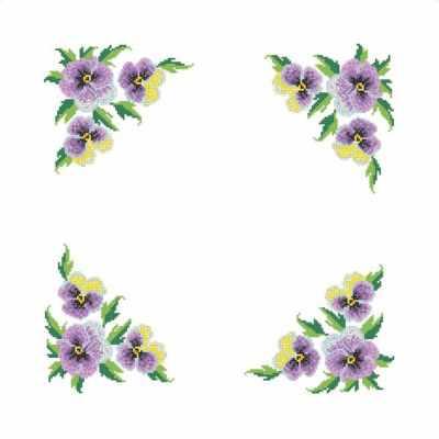 Основа для вышивания с нанесённым рисунком Каролинка ККС/хб/ бязь - 005 Заготовка салфетки крестом - схема для вышивания (Каролинка)