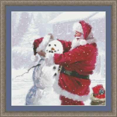 97697 Санта и снеговик KKrafts - Наборы для вышивания «Kustom Krafts»
