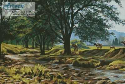 20557 Коровы у ручья KKrafts - Наборы для вышивания «Kustom Krafts»