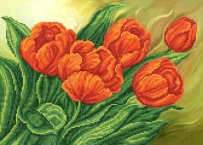 РКП-646 Красные тюльпаны - схема (Марiчка)
