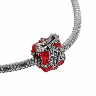 Бусина - 1698419 Талисман подарок, цвет красный в серебре