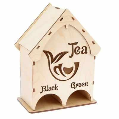 2078191 Чайный домик из фанеры Black  Green (набор 10 деталей)