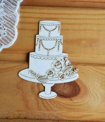 Чипборд Просто небо арт.Св-5 Свадебный торт