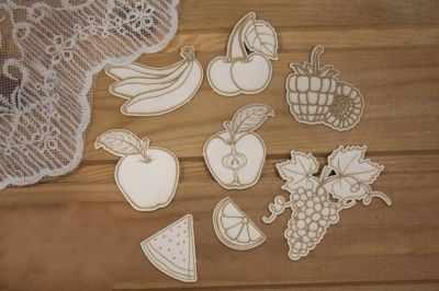 Чипборд Просто небо арт.К-58 Набор фруктов