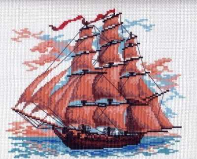 Основа для вышивания с нанесённым рисунком Матрёнин Посад 364-1 Алые паруса - рисунок на канве (МП) махаон алые паруса а грин machaon