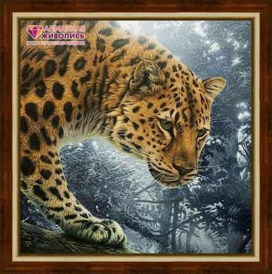 Алмазная мозаика Алмазная живопись Алмазная вышивка Охотник джунглей (АЖ-1519) - картина стразами