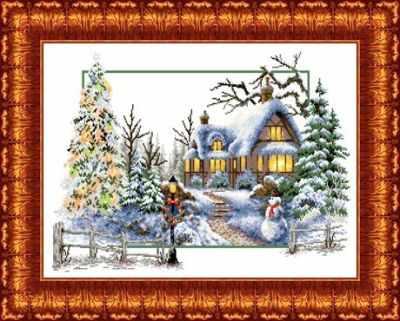 Набор для вышивания Каролинка КТКН 121 Зимняя сказка - набор набор для вышивания крестом rto букет хризантем 50 х 40 см