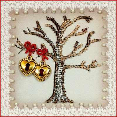 Набор для вышивания иконы Образа в каменьях М-39 Дерево любви
