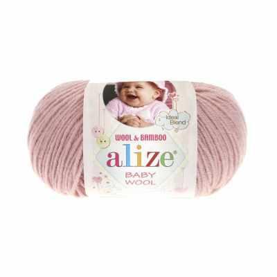 Пряжа Alize Пряжа Alize Baby Wool Цвет.161 Пудра