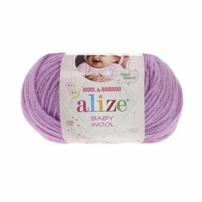 Пряжа Alize Пряжа Alize Baby Wool Цвет.672 Сиреневый