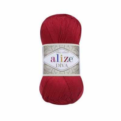 Пряжа Alize Diva Цвет.106 Красный