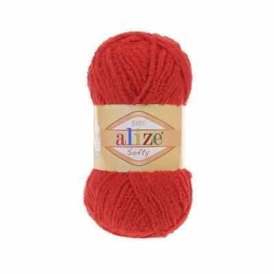 Пряжа Alize Пряжа Alize Softy Цвет.56 Красный