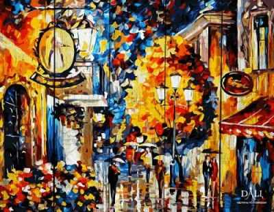 Раскраска по номерам DALI WC014 Осень в Париже