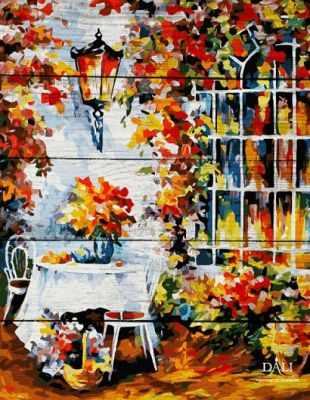 WA029 Столик в саду