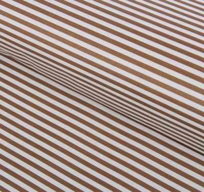 Бумага для упаковки подарков - 1558465 Бумага двухсторонняя, коричневые полосы на белом