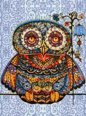 Набор для рисования по номерам Белоснежка 006-AS Волшебная сова (Белоснежка)
