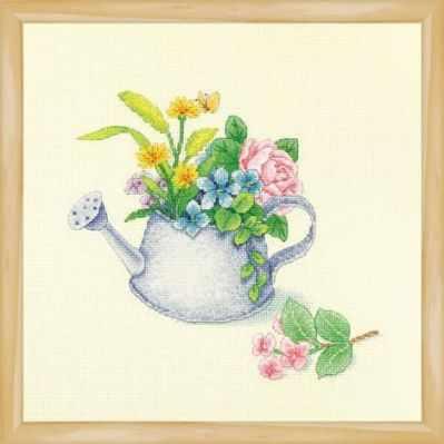 2800912 Цветы в лейке  набор (Xiu Crafts) - Наборы для вышивания «Xiu Crafts»