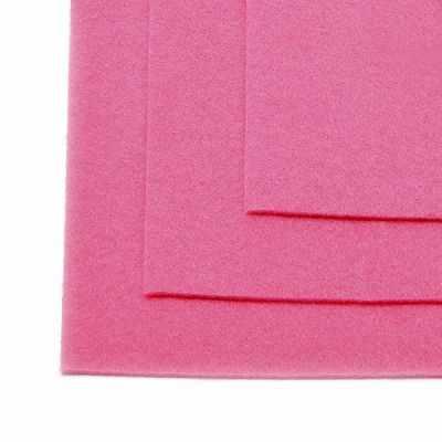 Ткань IDEAL TBY.FLT-H1.614 Фетр листовой жесткий, розовый