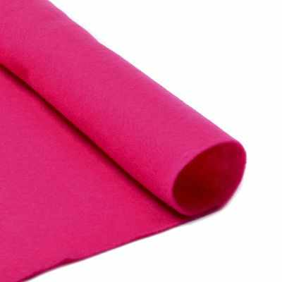 Ткань IDEAL TBY.FLT-S1.609 Фетр листовой мягкий , яр.розовый