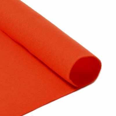 Ткань IDEAL TBY.FLT-S1.628 Фетр листовой мягкий, оранжевый