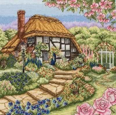Набор для вышивания Anchor PCE0944 Rose Cottage