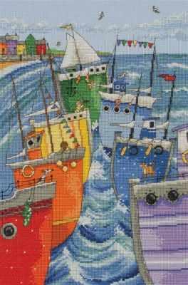 Набор для вышивания Anchor PCE0765 Радужная флотилия