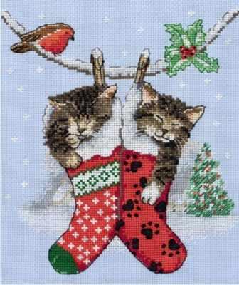 Набор для вышивания Anchor PCE0504 Рождественские котята
