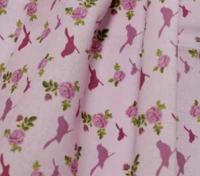 AM558010 Ткань Птички и сердечки№2